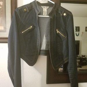 Short Dark Wash Denim Jacket